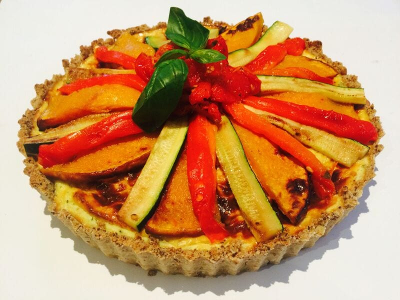 Gluten-Free Roasted Vegetable & Ricotta Tart
