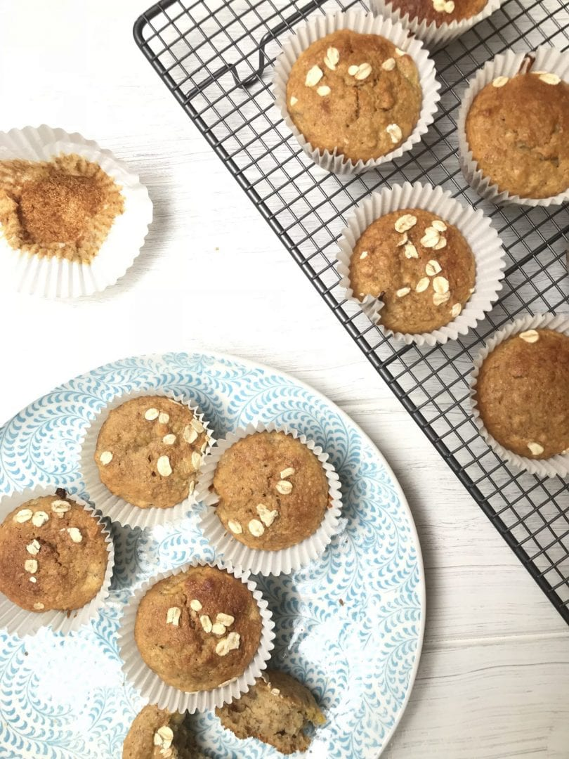 Lunch box snack: Banana, Chia and Oat Muffins