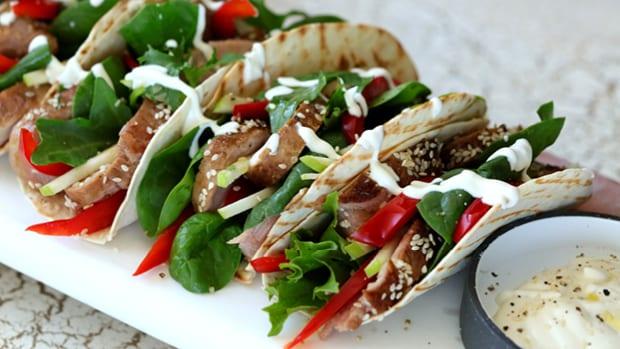 Sesame Pork Tacos